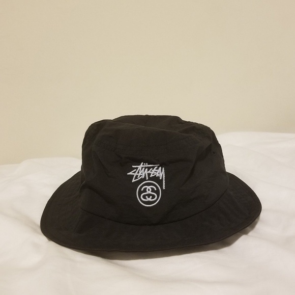3f9b2f7986e1a STÜSSY   CRUSHABLE STOCK LOCK BLACK BUCKET HAT